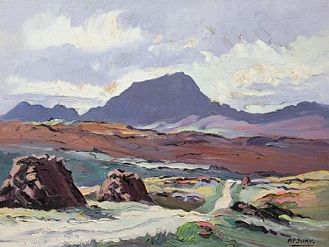 Click to enlarge Road Near Muckish by A P Jury
