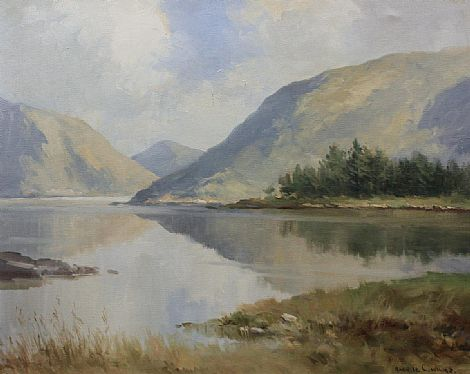 Click to enlarge Reflections, Glenveigh, Co. Donegal by Maurice C Wilks