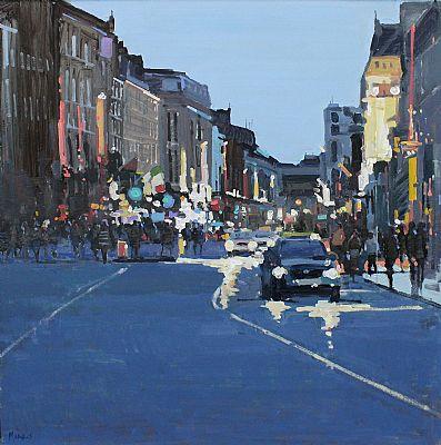 Click to enlarge Dame Street Dublin by John Morris