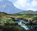 View Mountain Stream Valley