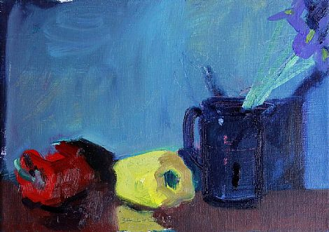 Click to enlarge Peppers and Iris by Brian Ballard