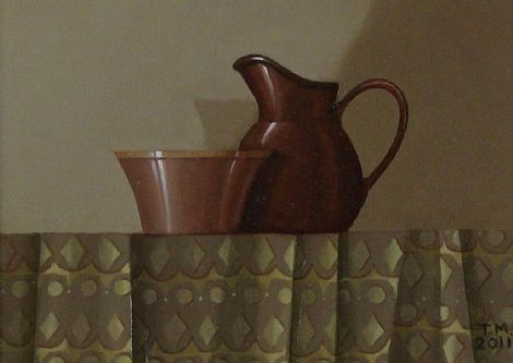 Click to enlarge Terracotta Jug by Trudie Mooney