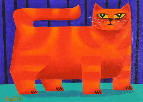 Click to enlarge Orange Cat by Graham Knuttel