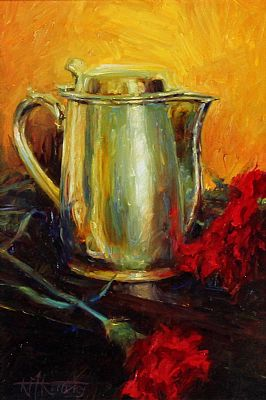 Click to enlarge Little Teapot and Carnations by Kenny McKendry