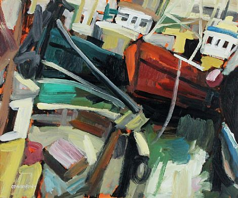 Click to enlarge Boats in Harbour by Colin Davidson