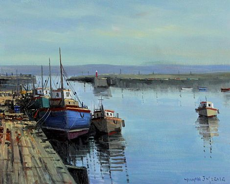 Click to enlarge Trawlers, Bangor by Norman J McCaig