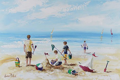 Click to enlarge Beach Scene by Lorna Millar