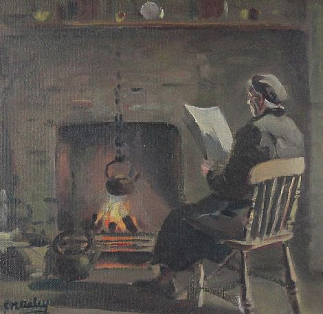 Click to enlarge By the Fireside by Charles McAuley