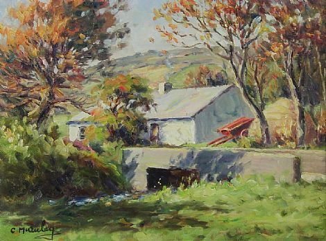 Click to enlarge Farm Cottage - Antrim Glens by Charles McAuley