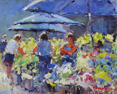 Click to enlarge Flower Sellers by Tony Lynch