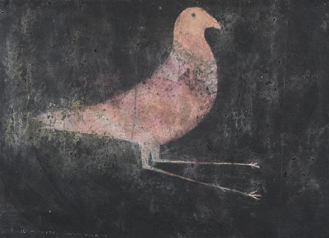 Click to enlarge Pink and Orange Hen Ghost by Ross Wilson