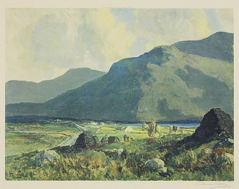 Click to enlarge Collecting Turf, West of Ireland by James  Humbert Craig