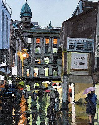 Click to enlarge Rainy Day, Belfast by Trevor McElnea