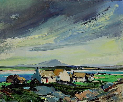 Click to enlarge Cottages In Connemara by Kenneth Webb