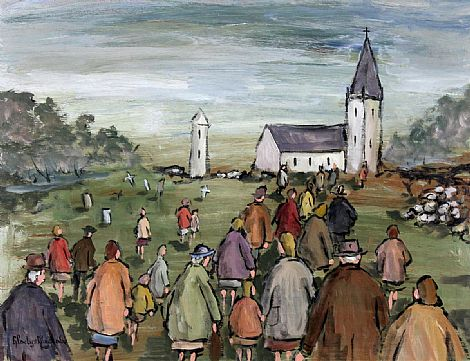 Click to enlarge Going To Church by Gladys Maccabe