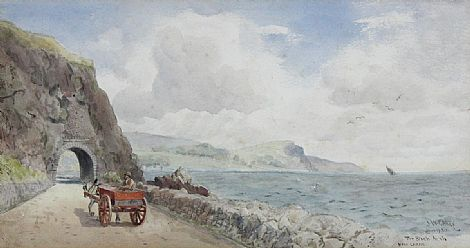 Click to enlarge The Black Arch Near Larne, June 1930 by J W Carey