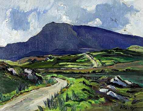 Click to enlarge Muckish On A Showery Day, Co. Donegal by A P Jury