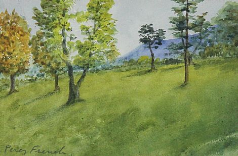 Click to enlarge Trees In Parkland by Percy French