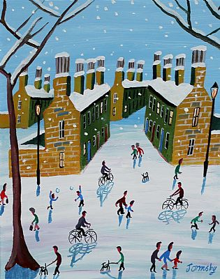 Click to enlarge Fun In The Snow by John Ormsby