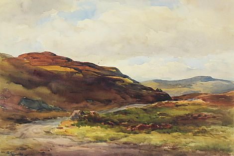 Click to enlarge West Of Ireland Landscape by Wycliffe Egginton