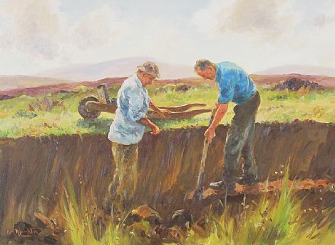 Click to enlarge Cutting Turf by Donal McNaughton
