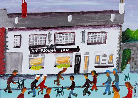Click to enlarge The Plough Inn, Hillsborough by John Ormsby