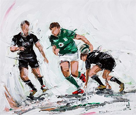 Click to enlarge Ireland V All Blacks by JP Neeson
