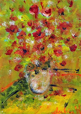 Click to enlarge Red Bouquet by Marie Carroll