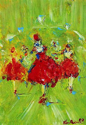 Click to enlarge Ballerinas by Marie Carroll