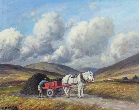 Click to enlarge Loading The Turf by Charles McAuley