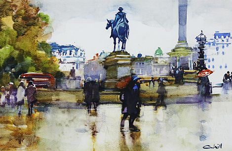 Click to enlarge Trafalgar Square November by Patrick Cahill