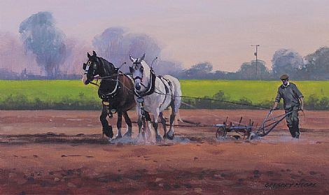 Click to enlarge Ploughing by Gregory Moore