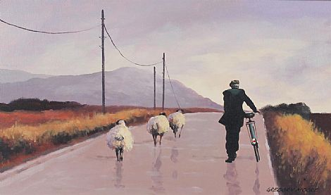 Click to enlarge Bringing in the Sheep by Gregory Moore
