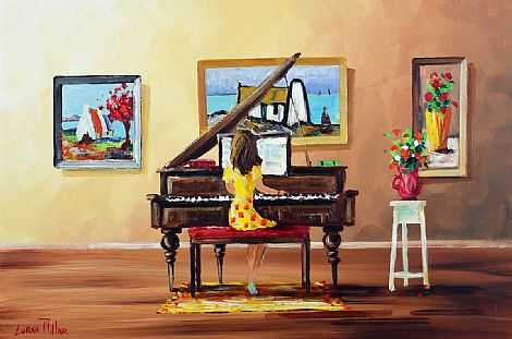 Click to enlarge Playing the Piano by Lorna Millar