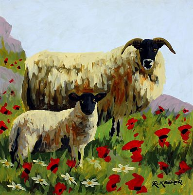 Click to enlarge Spring Sheep by Ronald Keefer