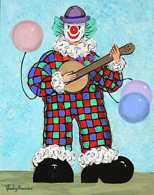Click to enlarge Clown by Gladys Maccabe
