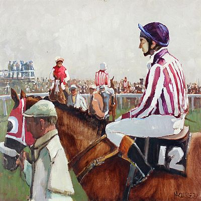 Click to enlarge In The Saddle by Cecil Maguire