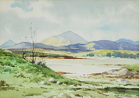 Click to enlarge Muckish from Lackagh, Co. Donegal by Maurice C Wilks