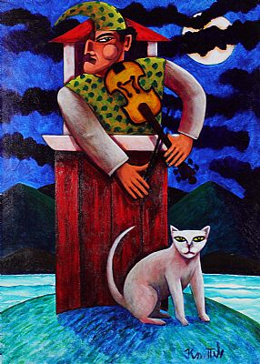 Click to enlarge Punch and Cat by Graham Knuttel