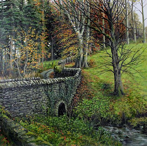 Click to enlarge Bridge, Larch Hill Co. Wicklow by Eugene Conway