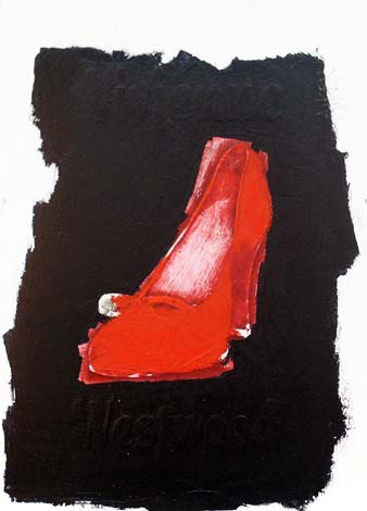 Click to enlarge Viv Red Shoe by Jonathan Aiken