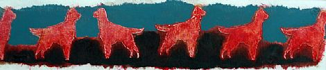 Click to enlarge Red setter frieze by Jonathan Aiken